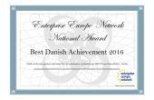 "NordDanmarks EU-kontoret tildelt Enterprise Europe Network National Award ""Best Danish Achievement 2016"""