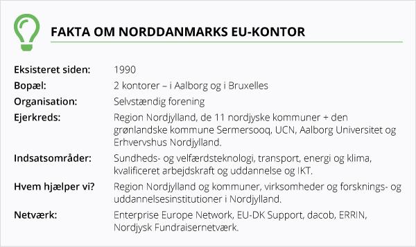 Fakta om Norddanmarks EU-kontor